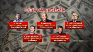"""""""บิล เกตส์"""" รั้งตำแหน่งมหาเศรษฐีอันดับ 1 ของสหรัฐฯ 23 ปีซ้อน"""