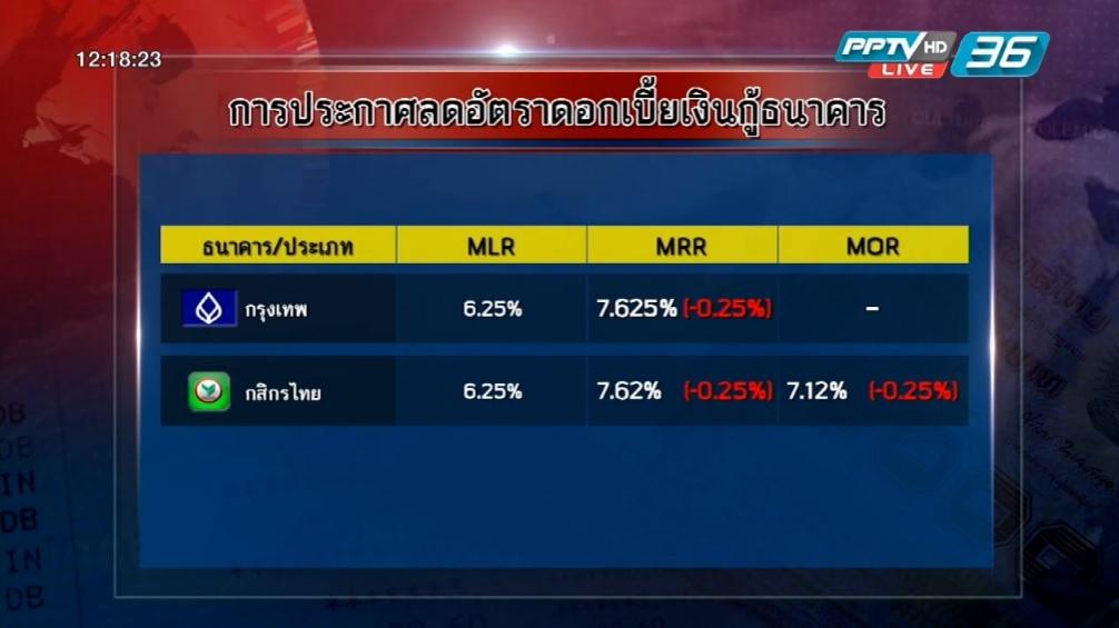 บัวหลวง-รวงข้าวลดดอกเบี้ยเงินกู้ลงอีก 0.25%