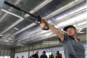 """""""ณัฐพันเลิศ"""" คว้าทองปืนสั้น 50 เมตรซีเกมส์ เฉือนเจ้าภาพ 1.7 แต้ม"""