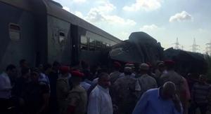 รถไฟอียิปต์ชนประสานงา ตาย 28 คน
