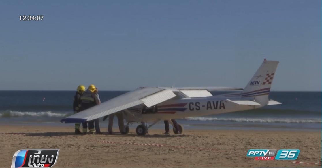 เครื่องบินเล็กลงจอดกลางหาดทำ นทท.ตาย 2 คน
