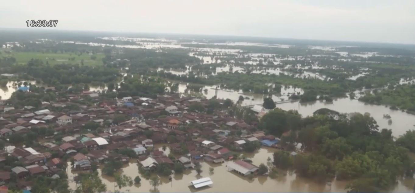 """น้ำท่วมอีสานหลายพื้นที่ยังไม่คลี่คลาย จับตาพิเศษ """"เขื่อนอุบลรัตน์"""""""