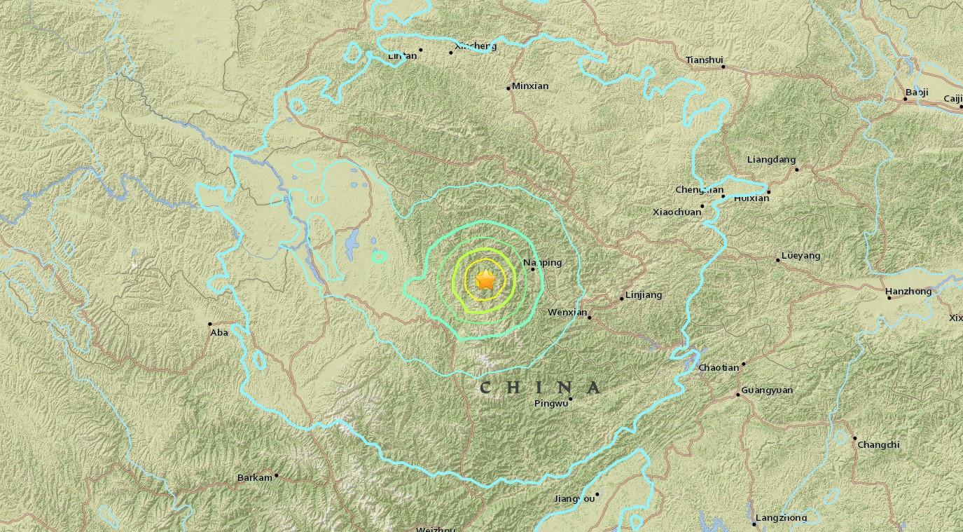 ระทึก ! แผ่นดินไหวมณฑลเสฉวน ความรุนแรงขนาด 6.5