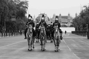 ซ้อมย่อยริ้วขบวนที่ 6 กองทหารม้า อัญเชิญพระบรมราชสรีรางคาร