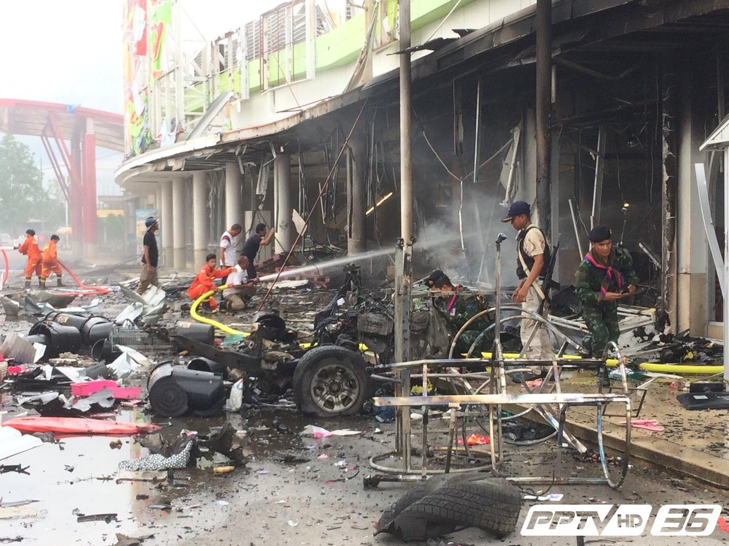 """เกิดเหตุระเบิด """"คาร์บอมบ์"""" บริเวณห้างบิ๊กซีปัตตานี เจ็บหลายราย"""