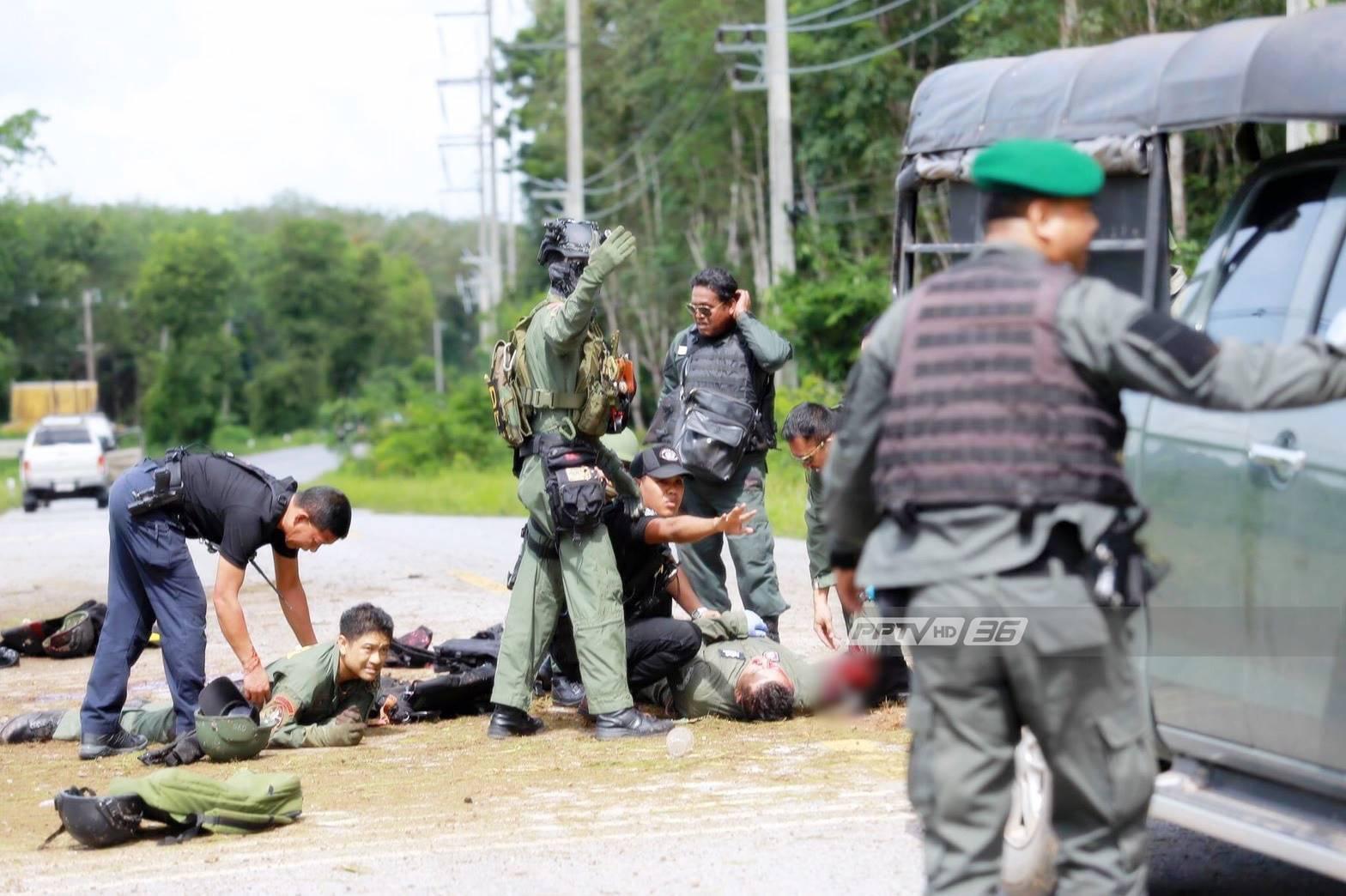 คนร้ายวางระเบิด 2 จุดในยะลา เจ้าหน้าที่-ชาวบ้านเจ็บเกือบ 30 คน