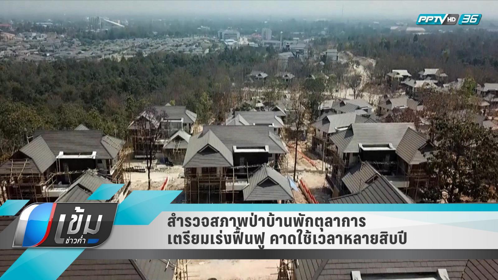 สำรวจสภาพป่าบ้านพักตุลาการ เตรียมเร่งฟื้นฟู คาดใช้เวลาหลายสิบปี