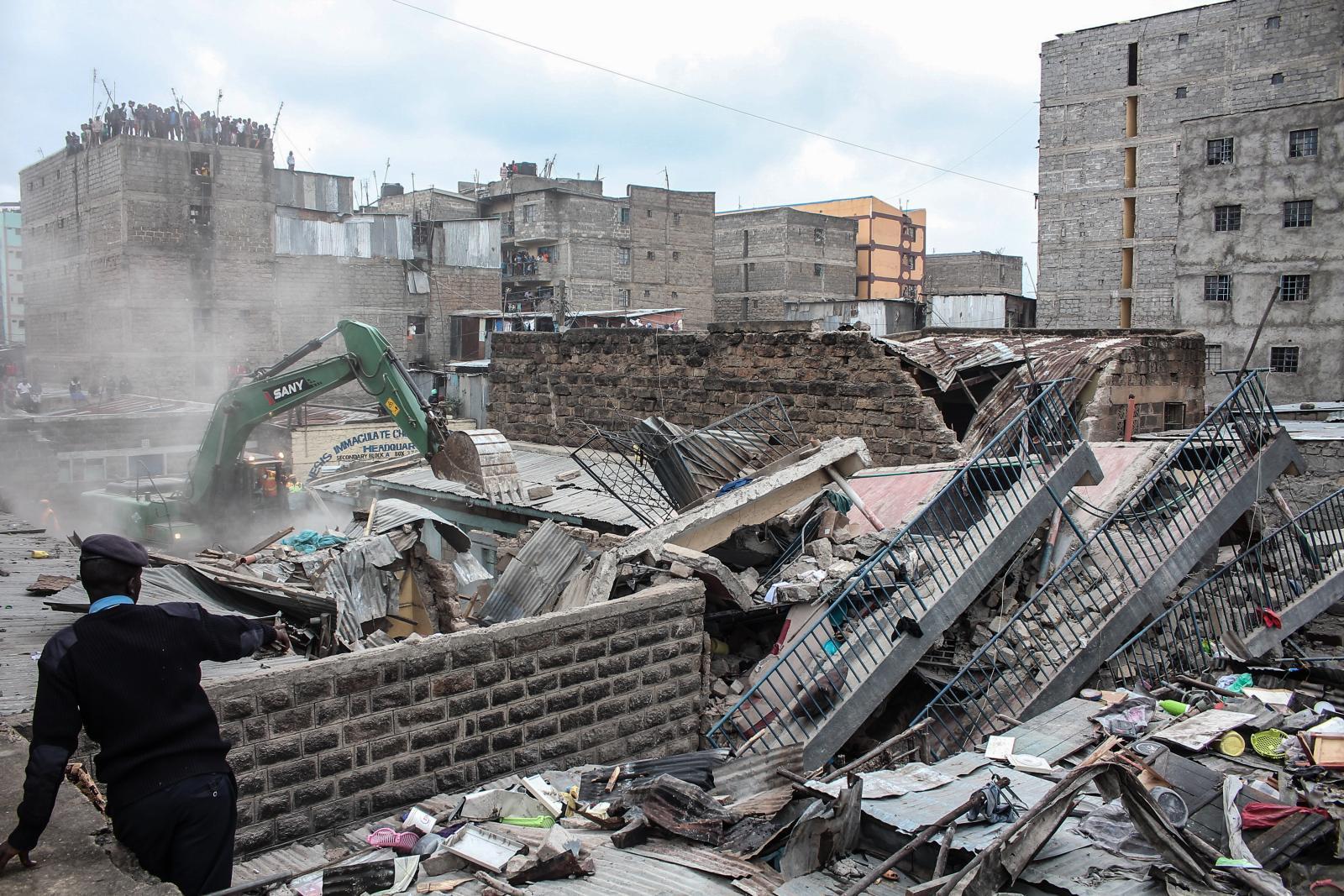 อาคาร 5 ชั้นพังถล่มในเคนยา เจ็บ 3 ตาย 3