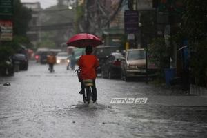 อุตุฯ เผย ฝนตกทั่วไทยร้อยละ 70-80-ภาคใต้คลื่นลมแรง