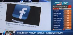 """""""เฟซบุ๊ก"""" เผย ยอดผู้ใช้-กำไรพุ่งต่อเนื่อง แม้เจอปัญหาข้อมูลรั่ว"""