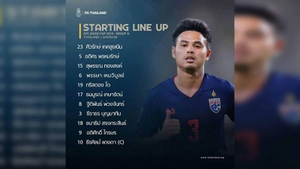 """""""ทัพช้างศึก"""" ประกาศรายชื่อ 11 ตัวจริง Asian Cup เกม ไทย ปะทะ บาห์เรน เย็นนี้ 18.00 น."""