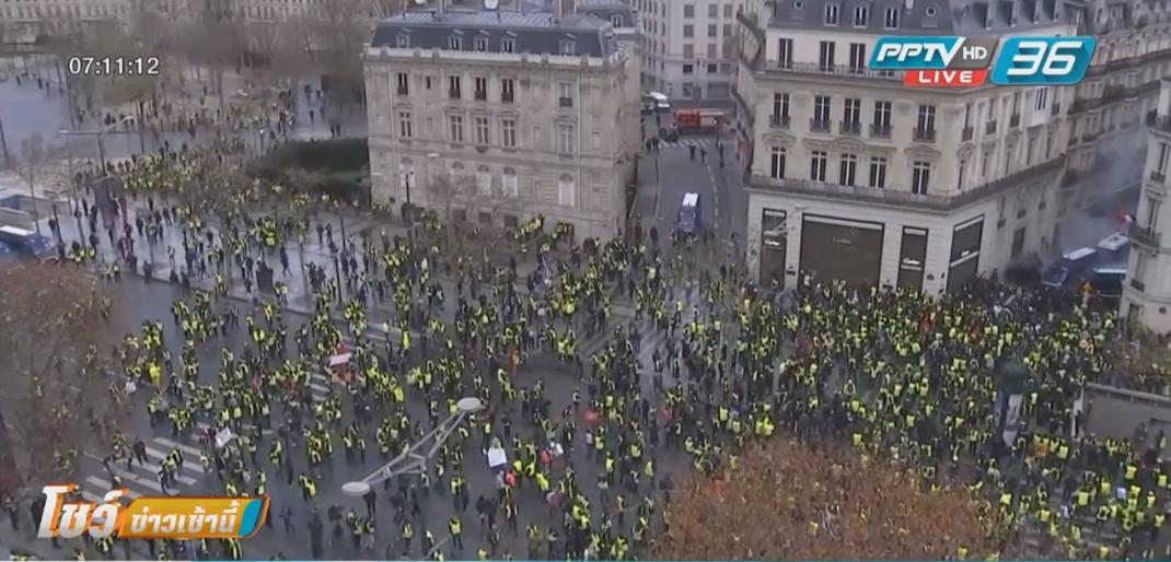 ผู้นำฝรั่งเศสประกาศขึ้นค่าแรง-ยกเลิกภาษี หวังสยบม็อบ