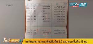 กรุงไทย ลงดาบพนักงาน พร้อมคืนเงินลูกค้า 2.9 แสน พบเหยื่อเพิ่ม 13 คน