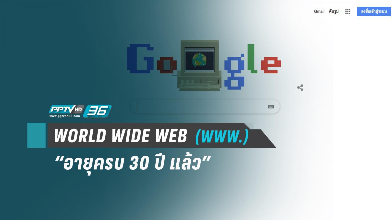เวิลด์ไวด์เว็บ ครบรอบ 30 ปีเครือข่ายใยแมงมุม (WORLD WIDE WEB)