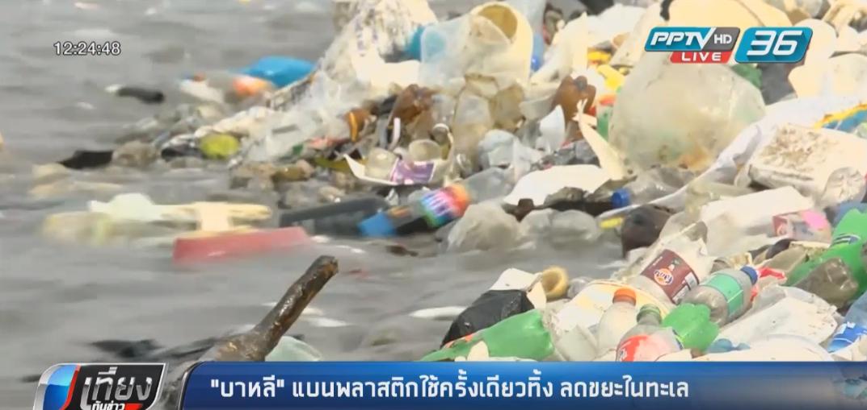 """""""บาหลี"""" แบนพลาสติกใช้ครั้งเดียวทิ้ง ลดขยะในทะเล"""