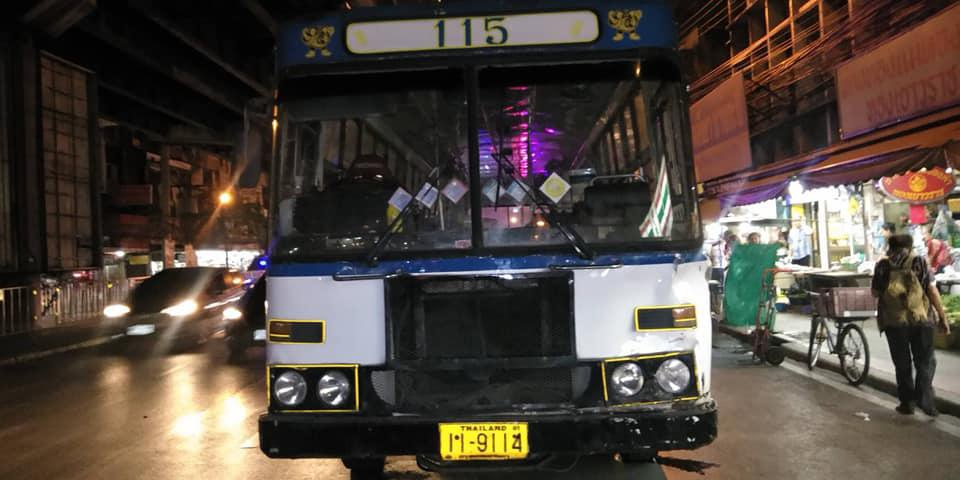ขสมก.สั่งพักงานคนขับรถเมล์เบรกแตกชนคนเสียชีวิต