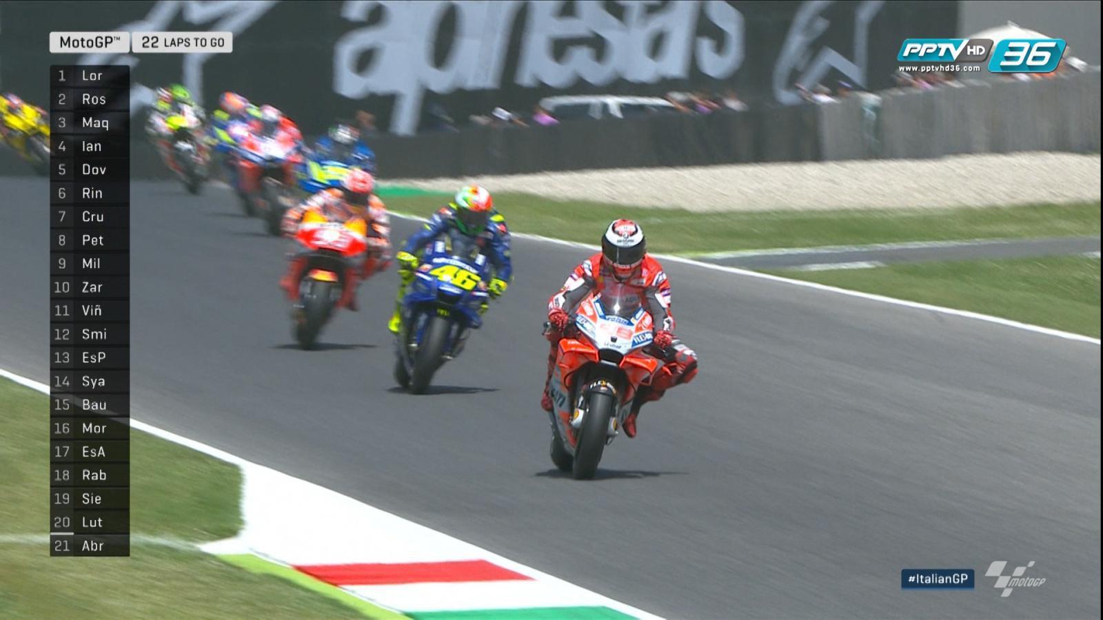 ชมจังหวะที่ Jorge Lorenzo เร่งเครื่องเป็นผู้นำในช่วงปล่อยตัว MotoGP2018 สนามที่ 6