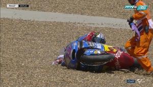 Alex Marquez น้องชายของ Marc Márquez ล้มโค้งที่ 5 รุ่น Moto2