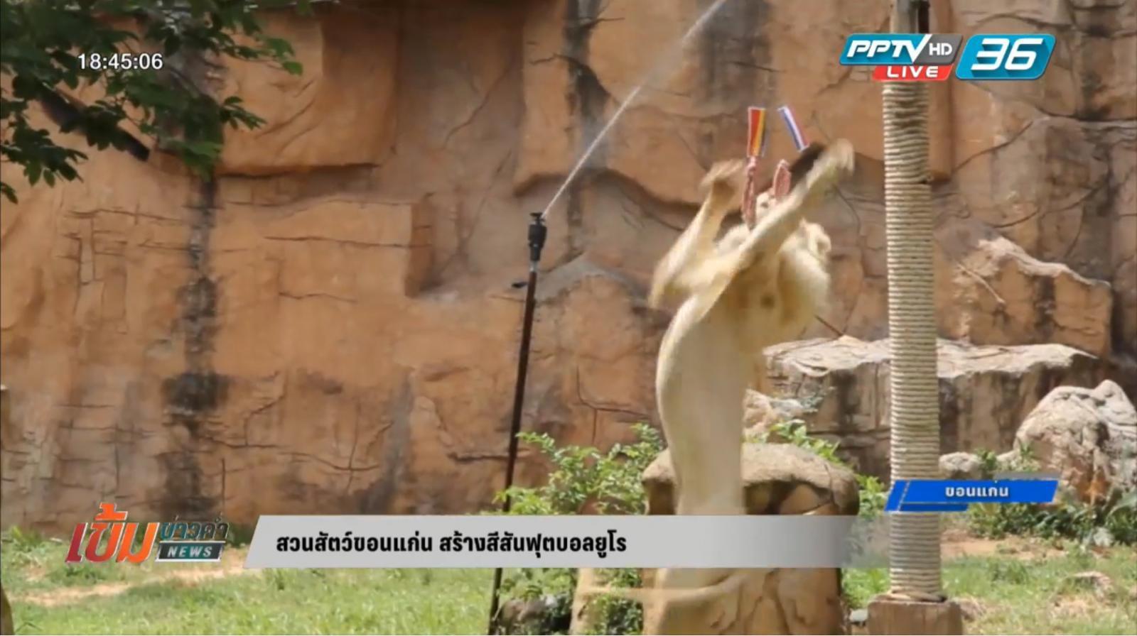 สวนสัตว์ขอนแก่น สร้างสีสันฟุตบอลยูโร
