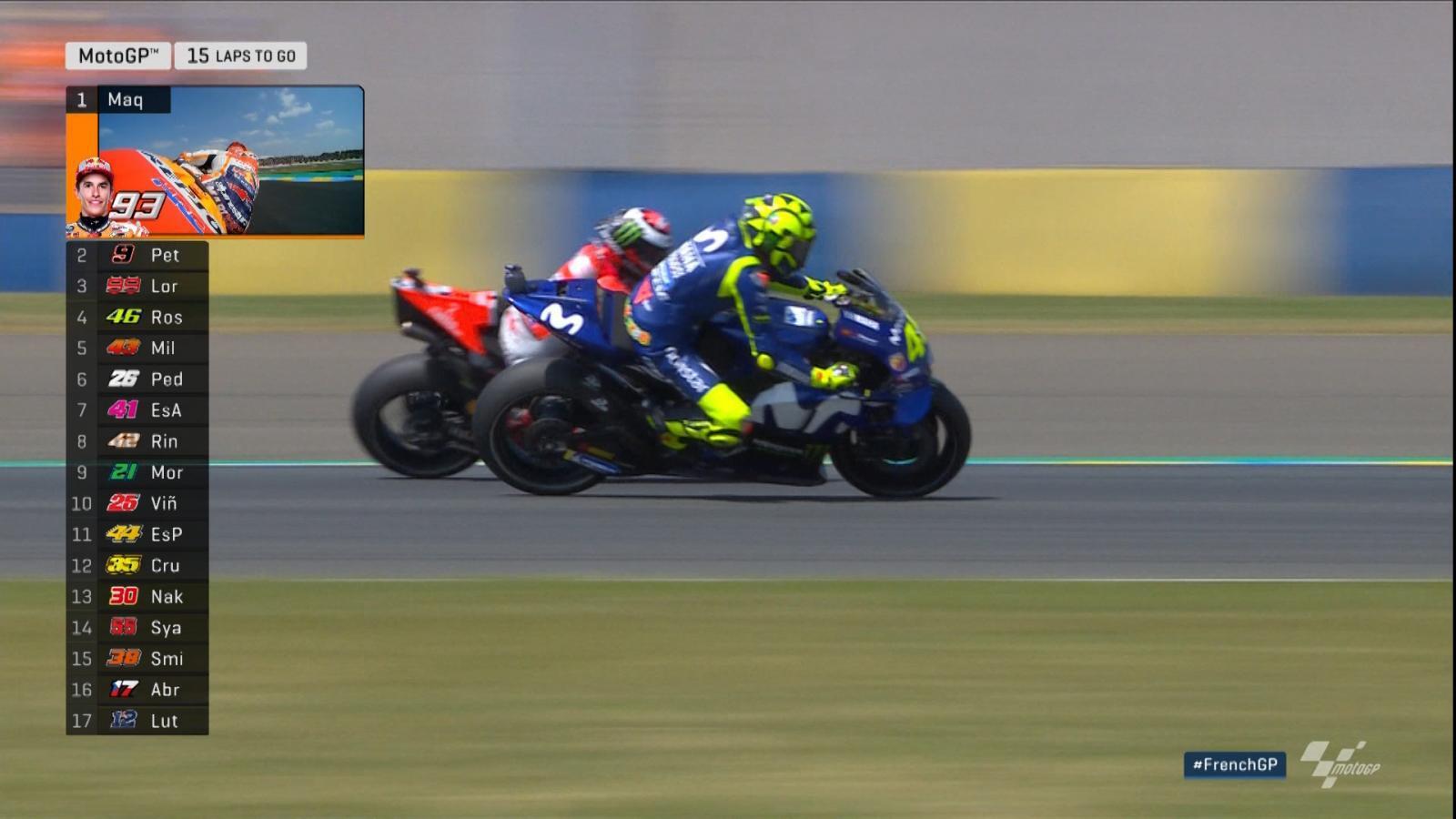 ชมจังหวะ Valentino Rossi  แซง Jorge Lorenzo ก่อนจะจบอันดับที่ 3 ในสนามนี้