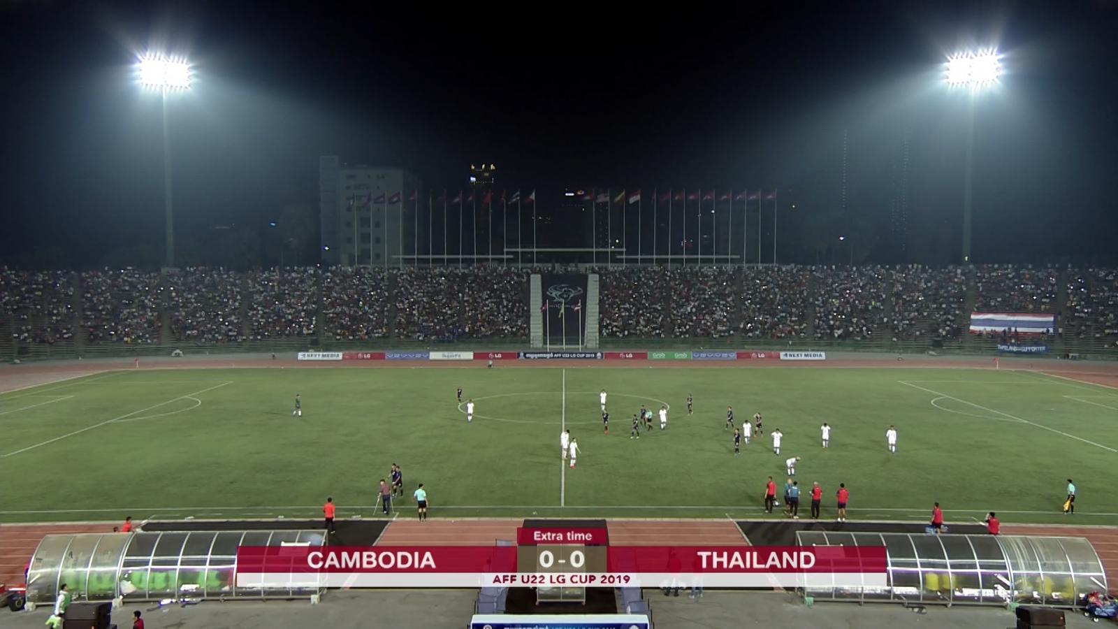 ไฮไลท์ ทีมชาติไทย เอาชนะทีมชาติกัมพูชา ด้วยการดวลจุดโทษ สกอร์ 5 - 3