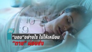 """""""นอน"""" ดีมีชัยไปทั้งชีวิต เปิดเคล็ดลับการ """"นอนหลับ"""" ที่จะทำให้สุขภาพคุณดีขึ้น"""