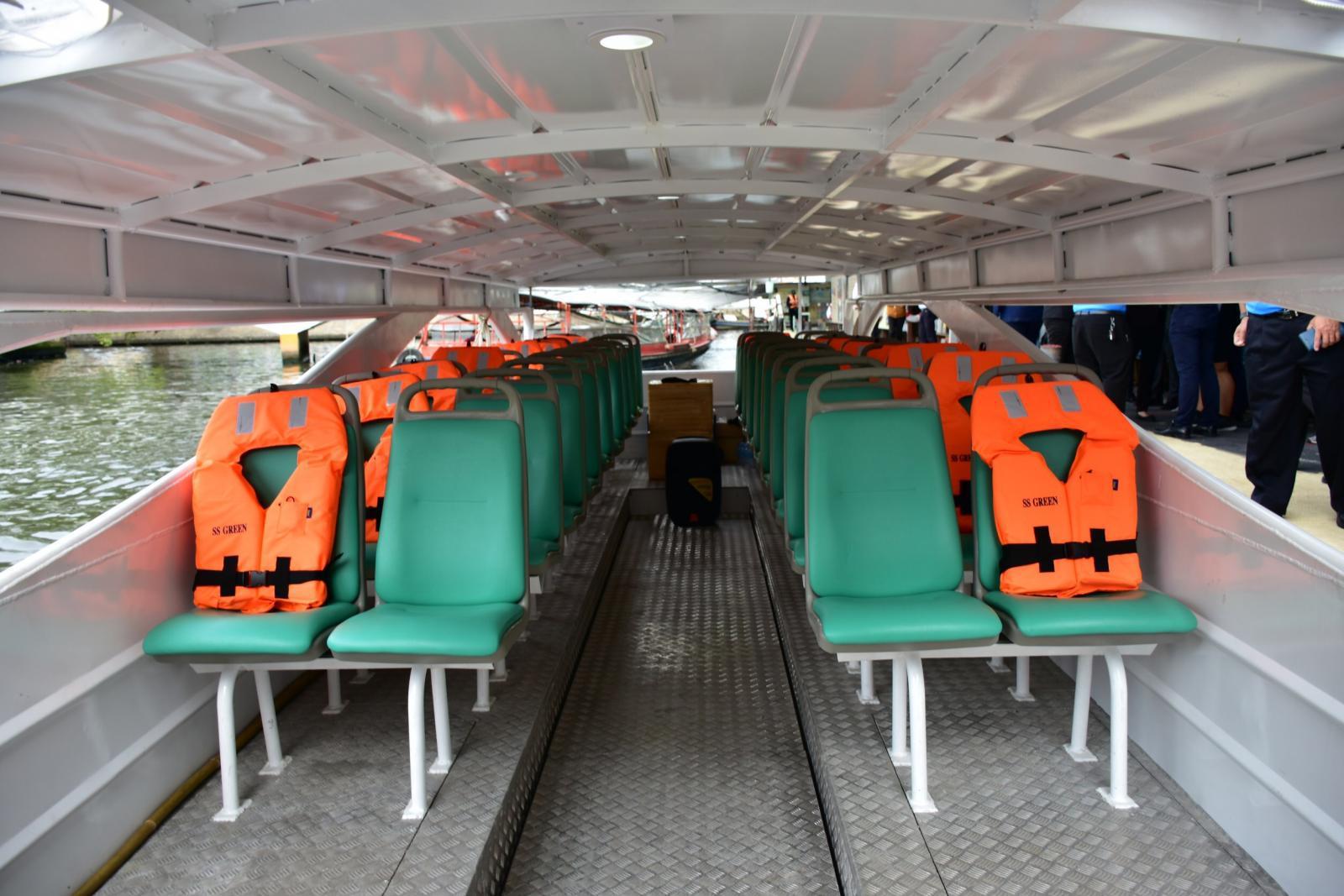 """เปิดภาพการทดสอบ """"เรือโดยสารไฟฟ้า"""" เตรียมให้บริการคลองแสนแสบในอนาคต"""