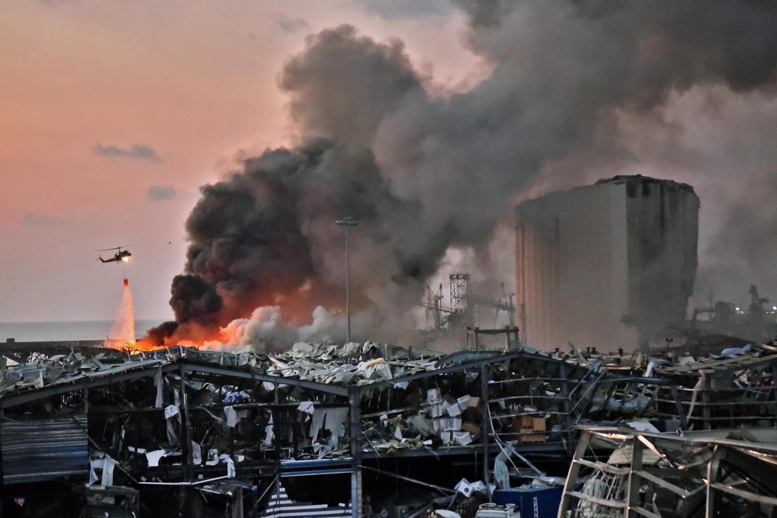 เกิดเหตุระเบิดใหญ่ ท่าเรือกรุงเบรุต เลบานอน ผู้คนเสียชีวิตจำนวนมาก