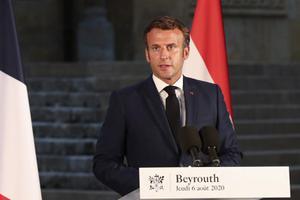 ผู้นำฝรั่งเศสสำรวจความเสียหายเหตุระเบิดในเลบานอน