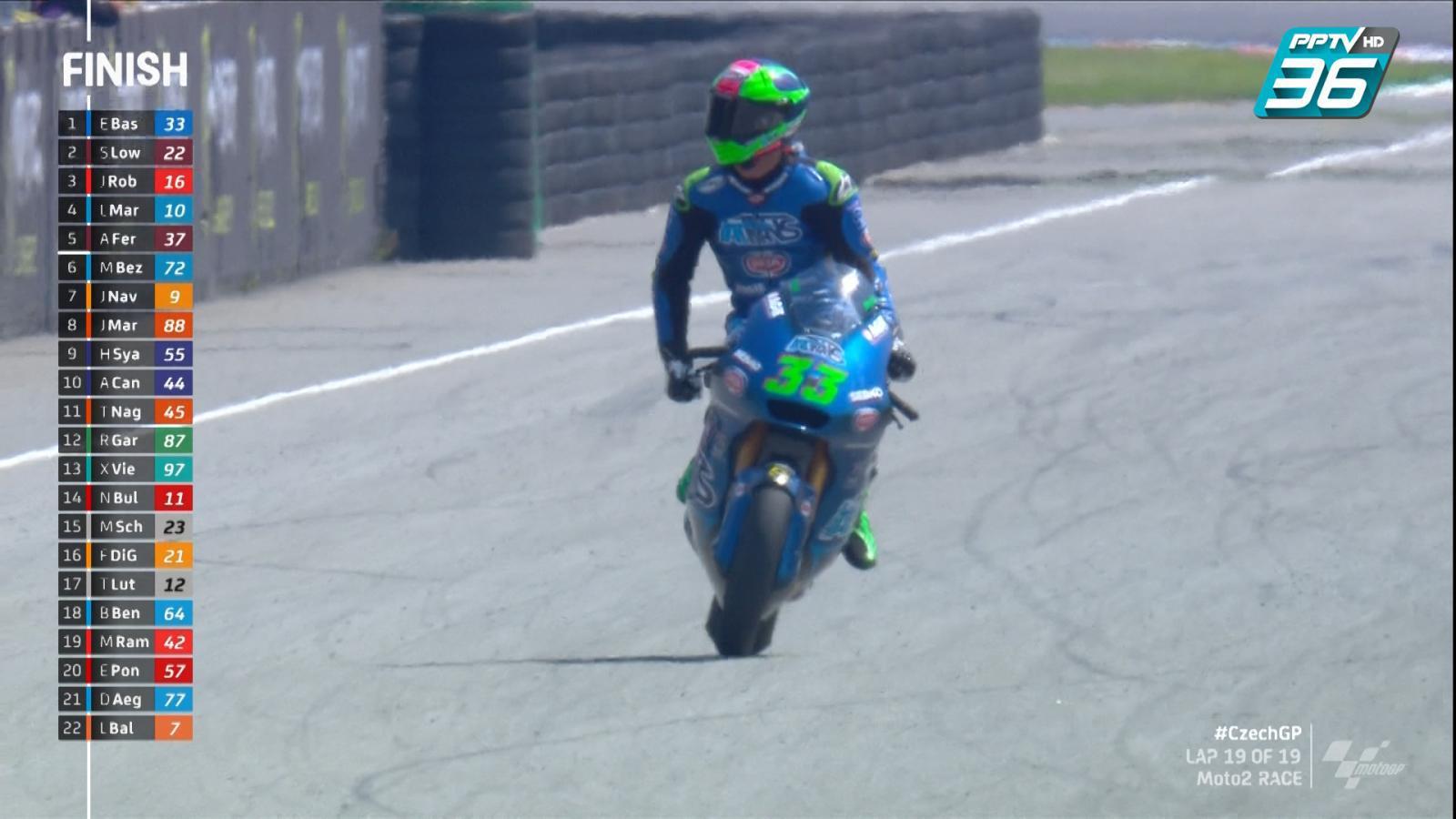 Enea Bastianini นำม้วนเดียวจบ เข้าเส้นชัยที่ 1 Moto2 สนามที่ 4