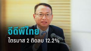 """""""สภาพัฒน์"""" เผย จีดีพีไทย ไตรมาส 2 ติดลบ 12.2% เหตุโควิด - ล็อกดาวน์"""