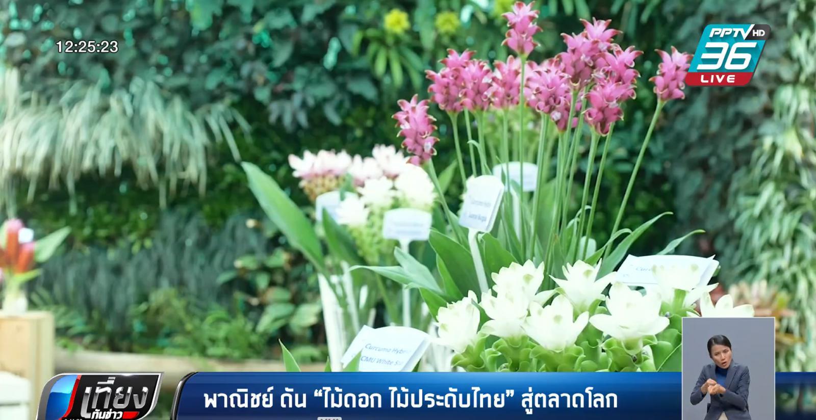 """พาณิชย์ ดัน """"ไม้ดอก ไม้ประดับไทย"""" สู่ตลาดโลก"""