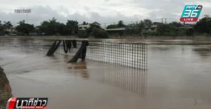 น้ำยม กัดเซาะถนนริมแม่น้ำ-ท่วมบ้านเรือนเสียหายกว่า 200 หลัง