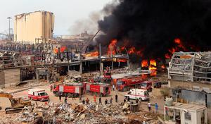 """ไฟไหม้ซ้ำ """"ท่าเรือเบรุต"""" หลังเกิดเหตุระเบิด 1 เดือน"""