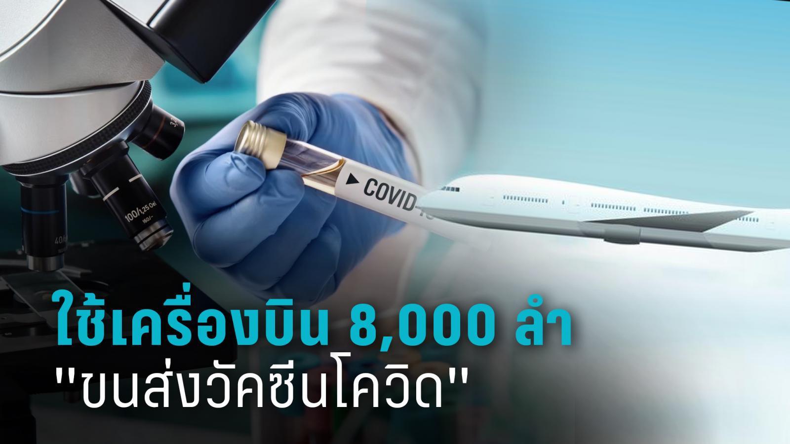 คาดใช้เครื่องบินบรรทุกสินค้า 8,000 ลำ เพื่อขนส่งวัคซีนโควิด-19 ไปทั่วโลก