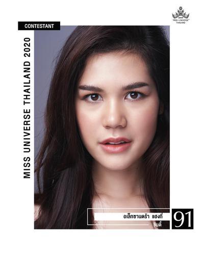 ชื่อ : อเล็กซานดร้า แฮงกี่ ชื่อเล่น : ซินดี้ หมายเลข : 91 อายุ : 21 ปี อาชีพ : นักศึกษา น้ำหนัก : 50 กก. ส่วนสูง : 172 ซม.