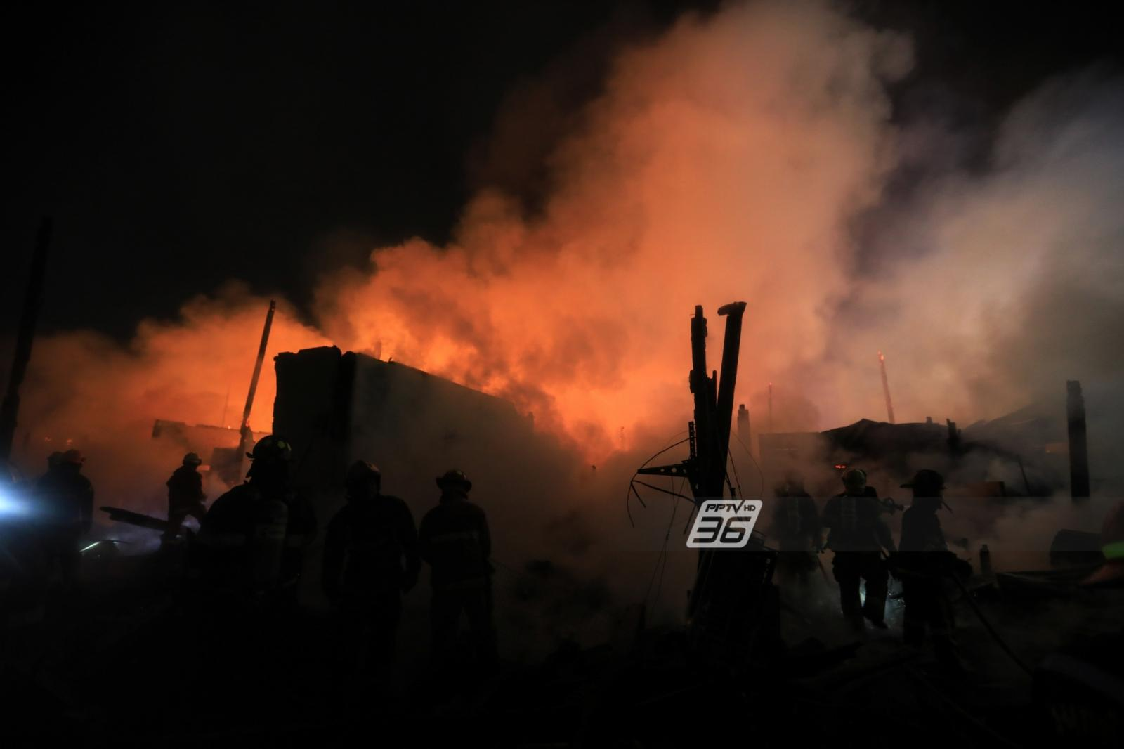 เผาวอด 50 หลัง ชุมชนตลาดดอนเมือง 200 คนหนีตาย ตัดปมวางเพลิง!