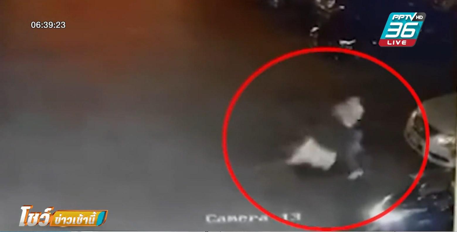 รัว 5 นัด ยิงพ่อค้าโรงเกลือดับ แฟนสาววิ่งหนีตาย ถูกยิง 1 นัด