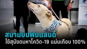 สนามบินฟินแลนด์ใช้สุนัขดมหาโควิด-19