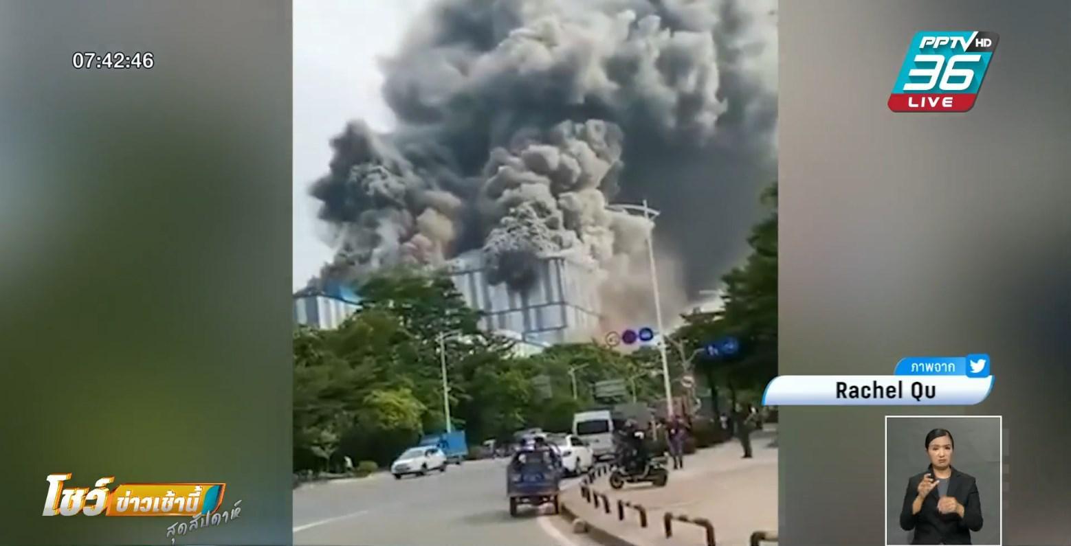 ห้องแล็บหัวเว่ย ระเบิดในจีน พนักงานวิ่งหนีตายวุ่น