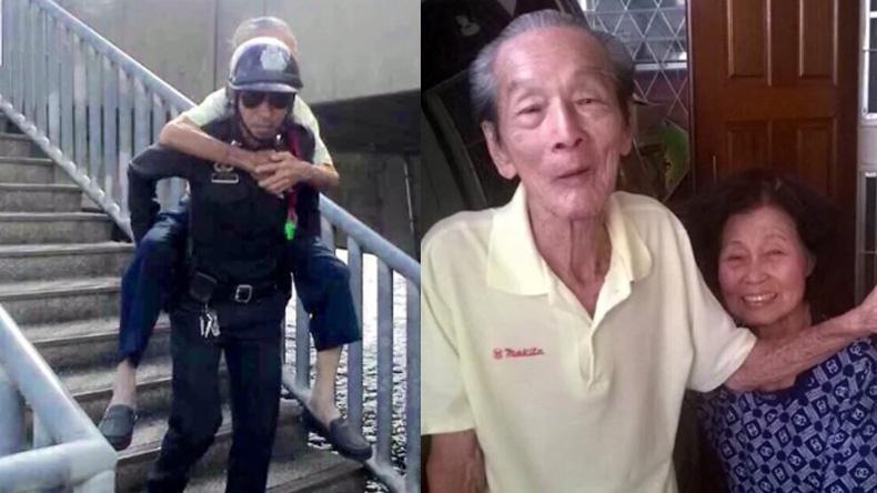 'ผบ.ตร.' ปลื้ม 2 ตำรวจ สน.ปากคลองสาน อุ้มชายชราส่งถึงบ้าน