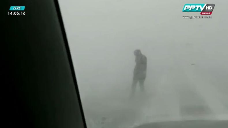 พายุหิมะ-พายุทรายพัดถล่มจีนกระทบการสัญจร