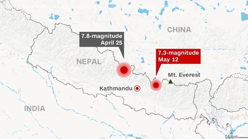 แผ่นดินไหวซ้ำ! เขย่าเนปาลขนาด 7.3 อาฟเตอร์ช็อค9ครั้งซ้อน (คลิป)