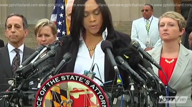 คณะลูกขุนสั่งฟ้อง 6 ตำรวจบัลติมอร์ คดีชายผิวสีเสียชีวิต