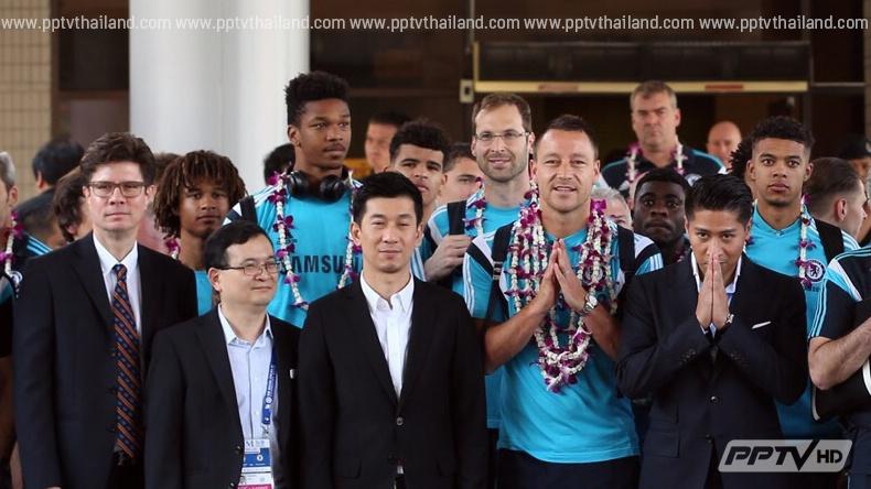 ทีมเชลซี แชมป์พรีเมียร์ลีกยกพลทัพใหญ่ถึงเมืองไทยแล้ว