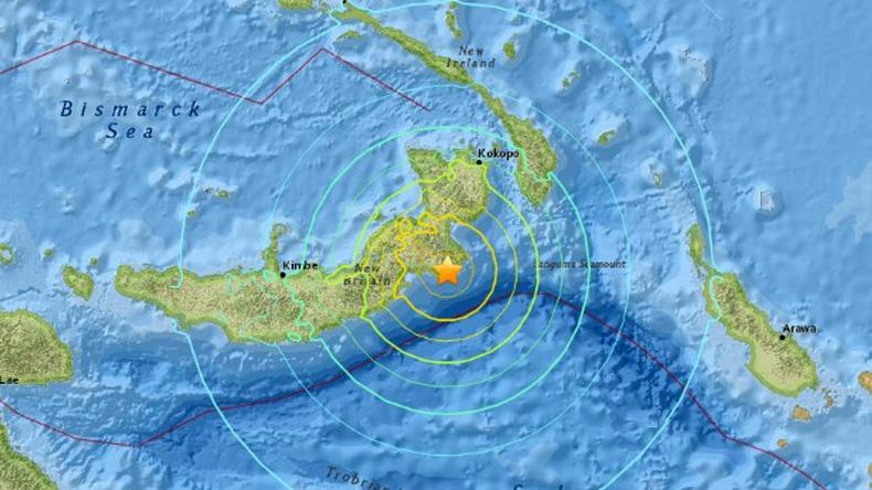 แผ่นดินไหวขนาด7.4นอกชายฝั่งปาปัวนิวกินี อาฟเตอร์ช็อก2ครั้ง