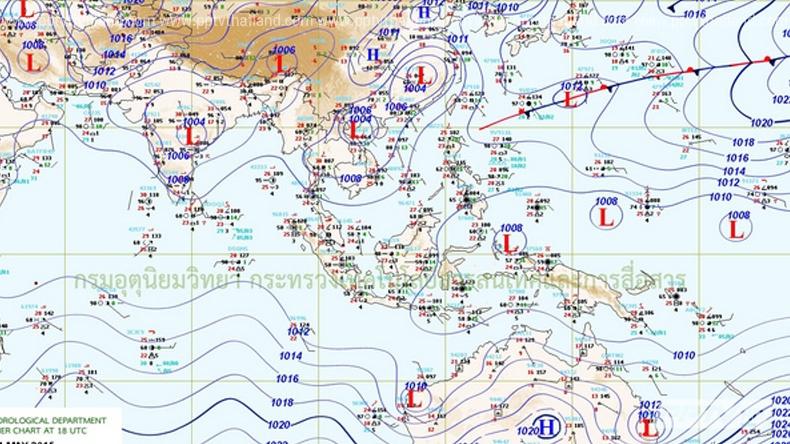 อุุตุฯเผยไทยตอนบนอุณหภูมิสูง-ร้อนจัดบางพื้นที่