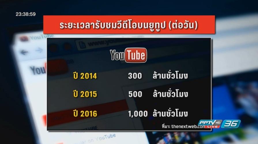 ยูทูปไทยเติบโตตามกระแสโลก