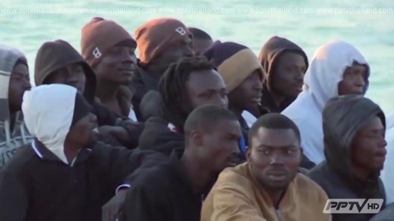 อิตาลีช่วยผู้อพยพเรือล่มกลางทะเลเกือบ 6 พันคน ภายใน 3 วัน