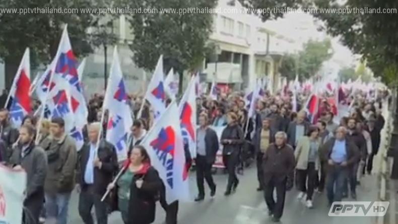 นายกเทศมนตรีทั่วกรีซประท้วงรัฐบาลระดมทุนจ่ายหนี้